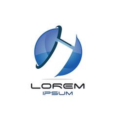 Letter i global logo vector