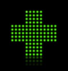 light green cross vector image