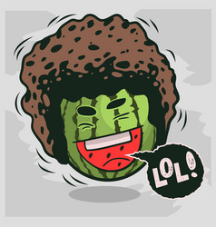 Lol lots laughs with laughing watermelon vector