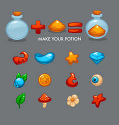 Make your potion mobile game alchemy constructor vector