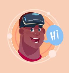 Man hi african american male emoji wearing 3d vector