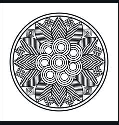 mandale monochrome art icon vector image