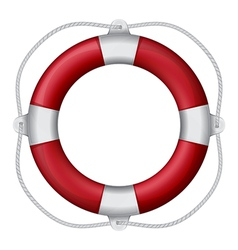 Marines red life buoy eps10 vector