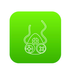 Mask protection icon green vector