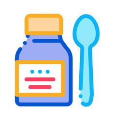 medicine bottle icon outline vector image