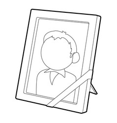 memory portrait icon outline style vector image