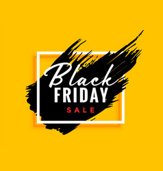 Modern black friday background with ink effect vector