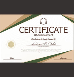 Modern certificate or diploma template 4 vector