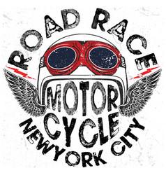 Motorcycle helmet graphic tee design vector