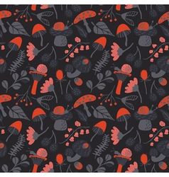 Nature colorful background with childish character vector
