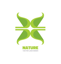 nature - logo template concept vector image