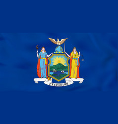 New york waving flag new york state flag vector
