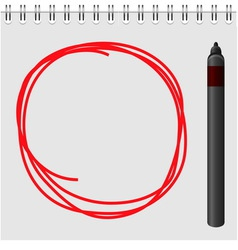 Notepad with red marker text box vector