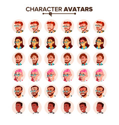 people avatar set man woman human vector image