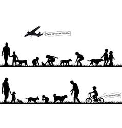 People love animals vector