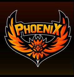 Phoenix mascot logo sticker vector