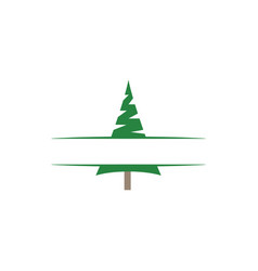 pine tree clip art graphic design template vector image