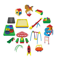 playground cartoon icons vector image