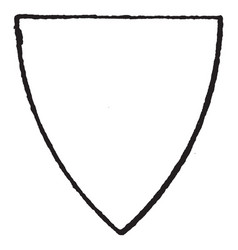 pointed triangular shield have a simple triangle vector image