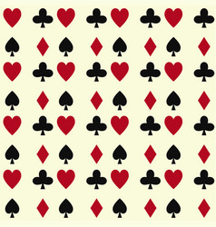 poker cards casino gambling seamless pattern vector image