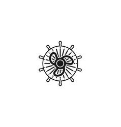 propeller anchor logo designs inspiration vector image