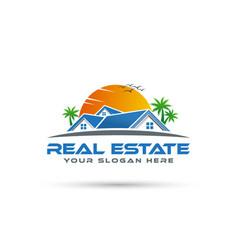 Real estate logo design - home logo vector