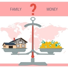 Scales - family or money vector