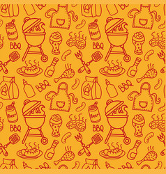 seamless barbecue pattern vector image