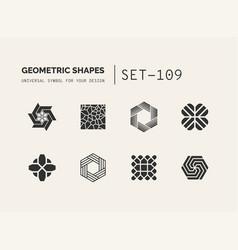 set of universal minimal geometric vector image vector image