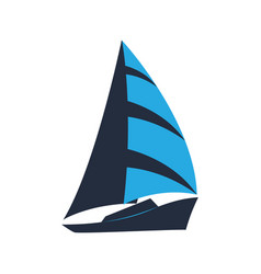 ship sailboat logo for a tourist company for vector image