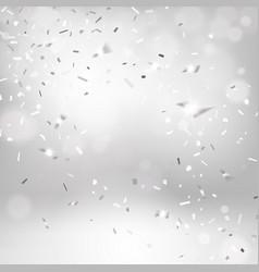 Silvery falling confetti vector
