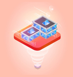 smart city or intelligent building on platform vector image
