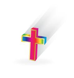spiritual cross vector image