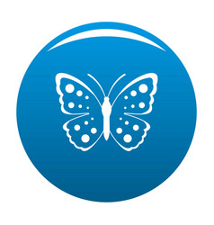 spring butterfly icon blue vector image