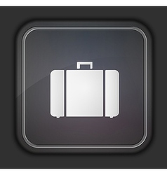 square icon on dark background Eps10 vector image