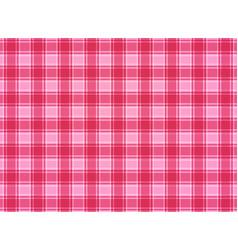 tartan plaid pink vector image