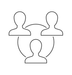 teamwork outline icon on white vector image