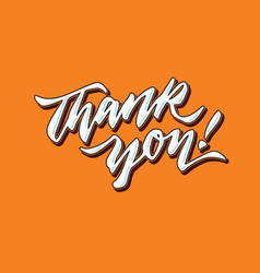 Thank you hand lettering typography card poster vector