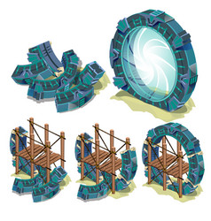 The construction phase of the round portal to vector