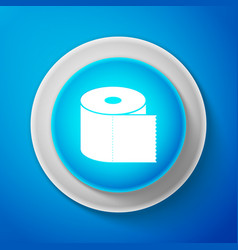 toilet paper roll icon isolated on blue background vector image