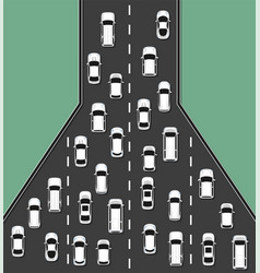 Traffic jam concept top view vector