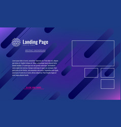 trendy minimal cover design layout or landing page vector image