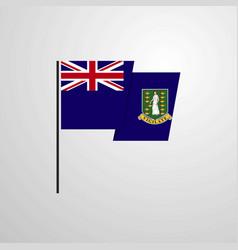 Virgin islands uk waving flag design background vector