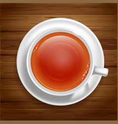 White tea cup vector
