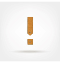 Wooden Boards Exclamation Mark vector image