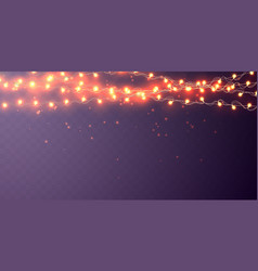 xmas color garland festive decorations glowing vector image
