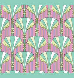 abstract floral fan shape column ornament vector image vector image
