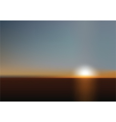 blurred sunset background vector image