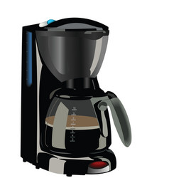 realistic illustration of coffee maker vector image vector image
