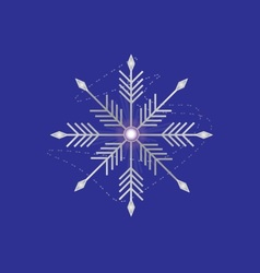 Silver snowflake vector image vector image